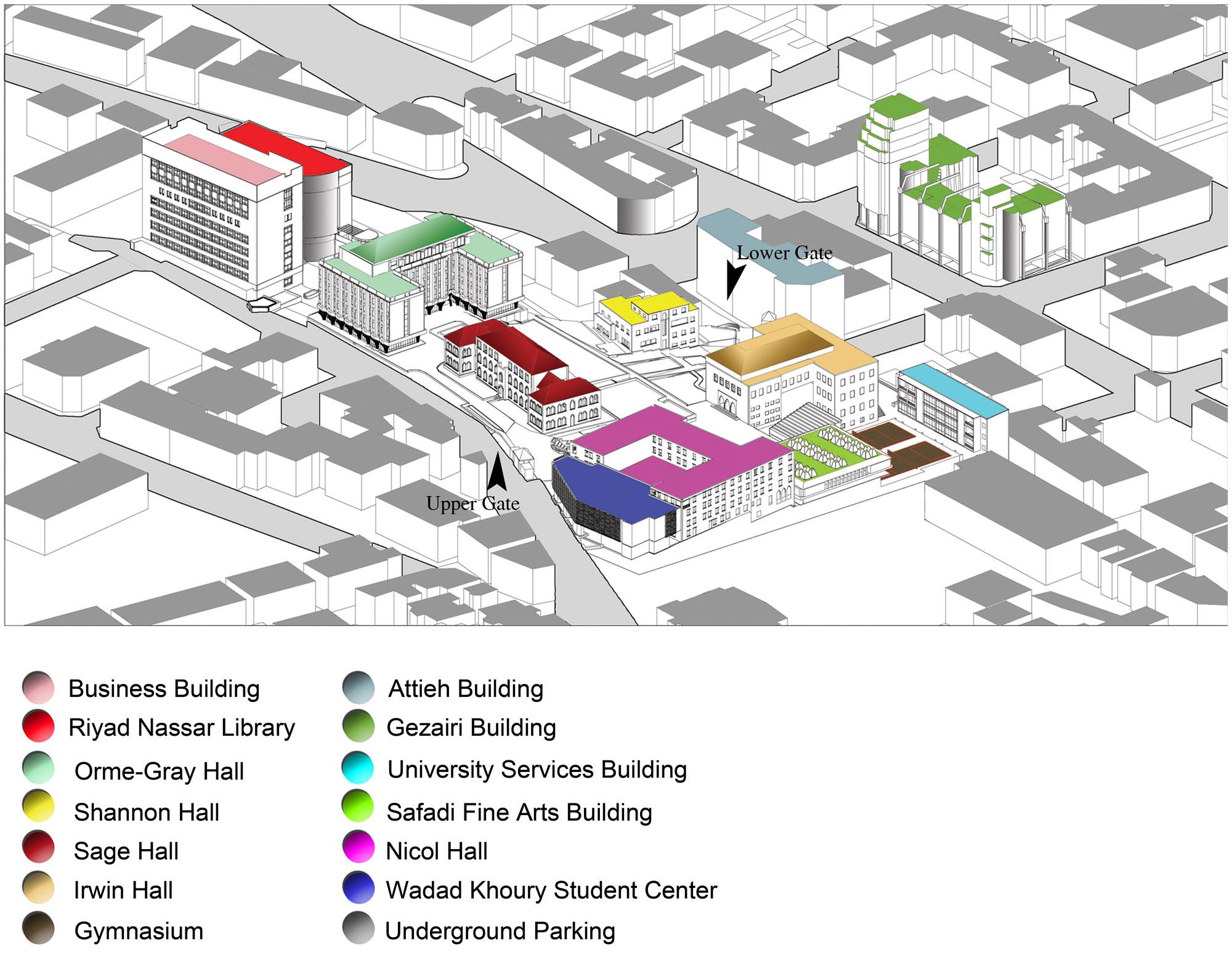 Beirut Campus Academic Catalog Lebanese American - American university map